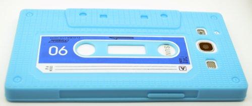 Samsung Galaxy i9300S3Silikon Kassette Slim Fit Schutzhülle Cover Displayschutzfolie Baby Blue Cassette Silicone Skin