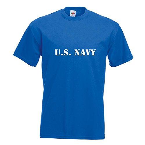 KIWISTAR - U.S. Navy T-Shirt in 15 verschiedenen Farben - Herren Funshirt bedruckt Design Sprüche Spruch Motive Oberteil Baumwolle Print Größe S M L XL XXL Royal