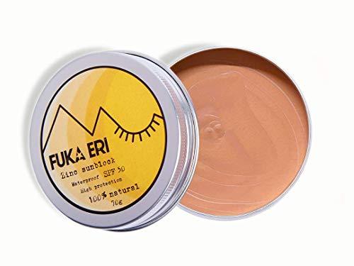 Natürliche Gesicht (FUKA ERI Sonnencreme mit Zink. Mineralische und natürliche zutaten. Sport sonnenschutz, 50 SPF wasserfest. Gesicht und Körper)