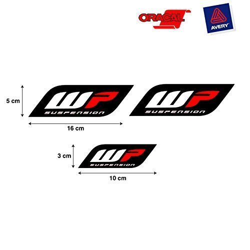 PEGATINA STICKER ADESIVO AUFKLEBER DECALS AUTOCOLLANTS WP SUSPENSION HORQUILLA COCHE Y MOTO...