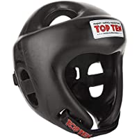 TopTen Competition Fight Casco Mixta, Unisex Adulto, Color Negro, tamaño L 59-64 cm