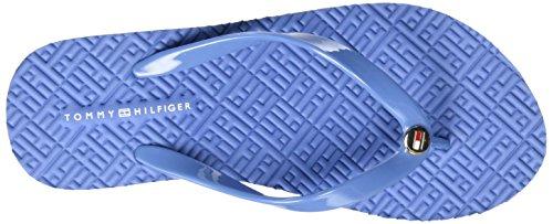 Tommy Hilfiger M1285ona 16r, Sandales Bout Ouvert Femme Bleu (Riviera 415)
