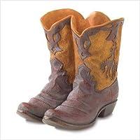 Gifts & Decor Western Theme Garden Decor Cowboy Boot Planter Outdoor by Gifts & Decor