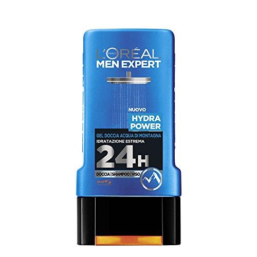 L'Oréal Paris Men Expert Hydra Power - Gel Doccia Uomo Acqua di Montagna Idratazione Estrema - 300 Ml
