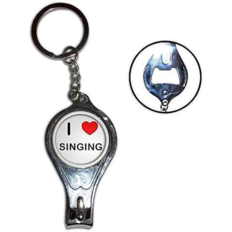 I Love Heart Singing - Nail clipper apribottiglie anello chiave del metallo