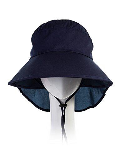 Chapeau Féminin Chapeau Soleil d'Infirmerie d'Eté Chapeau Soleil Anti-UV Sun Hat Chapeau Pliable de Plage ( Couleur : 1 ) 1