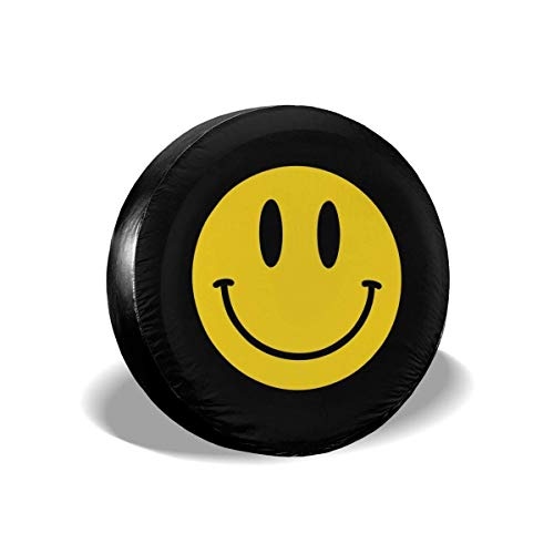 Vbnbvn Borse Portapneumatici Smile Polyester Universal Waterproof Sunscreen Wheel Covers for Jeep, Trailer, RV, SUV, Truck And Many Vehicles 14' 15' 16' 17'