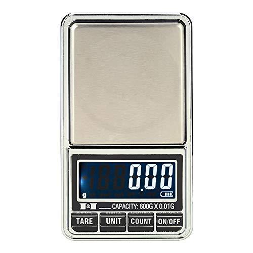 DuDuDu Poids de pesas équilibre qualité Mini électronique échelles Pocket Digital Scale Bijoux précision pondération scales600g / 1000g 0,0 1g