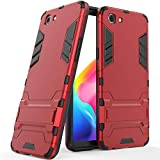 MaiJin Hülle für RealMe 1 / Oppo F7 Youth / A73S (6 Zoll) 2 in 1 Hybrid Dual Layer Shell Armor Schutzhülle mit Standfunktion Case (Rot)