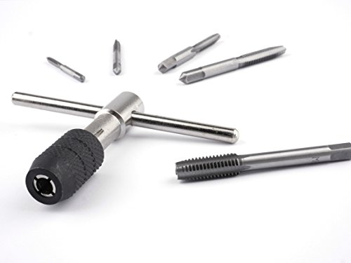 GSR Gewindeschneider-Satz 6 tlg. M3-M8 WS [08820000]   Einschnittgewindebohrer + Werkzeughalter + kostenloser Gewindeschneid-Anleitung