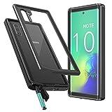 Temdan Samsung Galaxy Note 10 Hülle, Samsung Galaxy Note 10 5G Hülle, Stoßfest Transparent 360 Grad mit Eingebautem Bildschirmschutz Armor Schutzhülle für Samsung Galaxy Note 10/ Note 10 5G Schwarz+ Klar