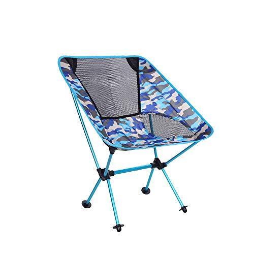Tao-Miy Chaise de Lune de Loisir pour la pêche en Plein air, Toile de Camping, Dossier incurvé, Chaise Pliable, Tapis antidérapant résistant à l'usure (Couleur : C)
