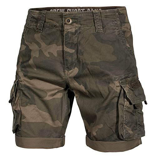 Alpha Ind. Crew Shorts Dark Oliv camo - 36