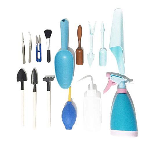 outtybrave Lot de 15 Mini Kits de repiquage de Jardin Multifonction pour Plantes de Jardin Shows Bleu