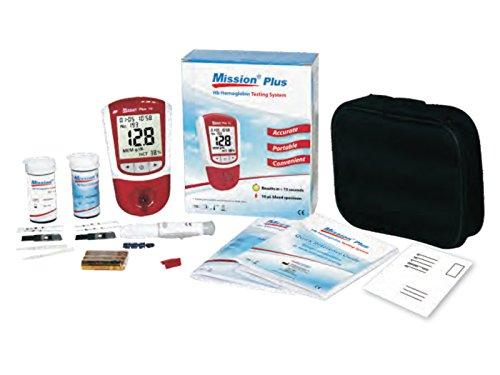 Mission Plus 2-in-1 HB Hämoglobin und Hämatokrit Messgerät