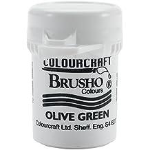 Brusho Crystal Colour 15g-Olive Green