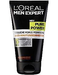 L'Oreal Men Expert Pure Power Reinigungsgel, Kohle-Reinigung gegen Hautunreinheiten, 150 ml