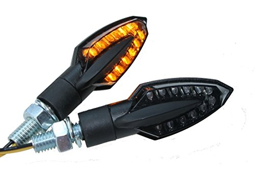 LED Mini Blinker VINCI rauchgrau getönt (smoke Grey) M8, universal passend für Motorrad, Quad, Roller mit E-Nummer, Aprilia, BMW, Gilera, Honda, Kawasaki, Yamaha, Suzuki