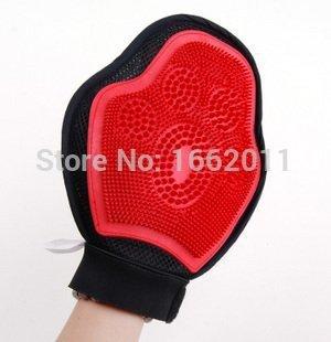 Sypure (TM) vendita caldo e popular lovely set di 1guanti da bagno Dog prodotti di pulizia rosso color 24*18cm fornitura
