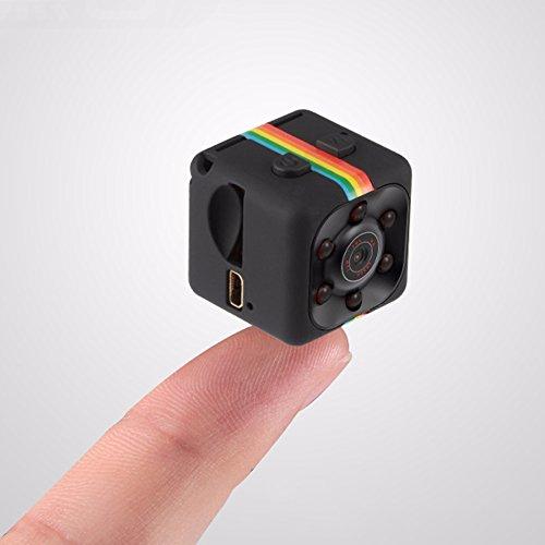 Scelet Mini Kamera - HD 1080P Portable Kamera Tiny Camcorder Auto DVR mit Nachtsicht und Bewegungserkennung Überwachungskamera Portable Dvr