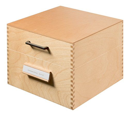 HAN Karteikasten 505, DIN A5 quer aus Holz / Hochwertige Lernkarteibox aus edlem & robustem Naturholz für 900 DIN A5 Karteikarten / Ideal zum Vokabeln lernen & als Lehrmaterial -
