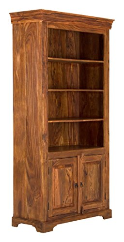 massivum Bücherschrank Merlin 102x202x45 cm Palisander braun gewachst