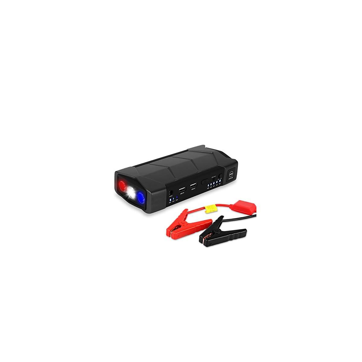 41MjiCWVXlL. SS1200  - Arrancador de Coche de 10.800 mAh, YOKKAO, Jump starter Cargador para Baterías de 12V y Cargador de 12V, 16V, 19V, Batería Externa con Luces de Emergencia, Kit de Arranque para Coche, Moto y Cargador de Smartphone, Laptop, etc.
