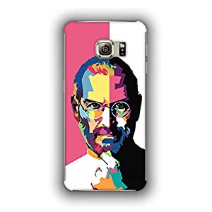 Caseque (Pro) Steve Jobs Portrait Back Shell Case Cover for Samsung Galaxy S6 Edge