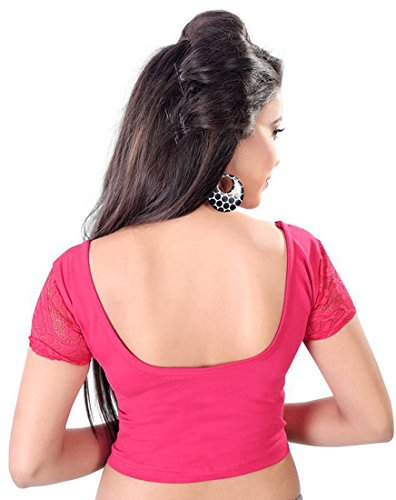 6642e663d7362 Fressia Fabrics Cotton Saree Blouse(COMBO 100(RANIPINK + RED)  ...