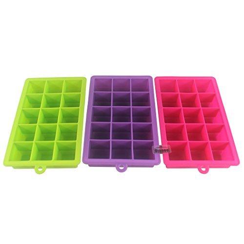 Dianoo 3PCS Silikon Eis Schimmel, Groß Eis Würfel Tablett, 3.5cm Würfel behalten Ihre Getränk Getränk stundenlang (Zufällige Farben) - Huhn Silikon-schimmel