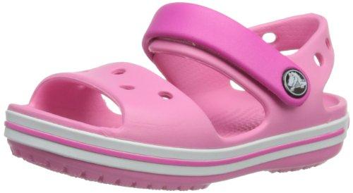 Crocs Crocband Sandal Kids, Sandali con Cinturino alla Caviglia Unisex - Bambini, Rosa (Pink Lemonade/Neon Magenta), 33/34 EU