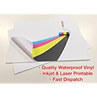 20 Sheets Self Adhesive Blank Waterproof A4 PVC Vinyl Matte White Sticker Inkjet Laser Printable preiswert