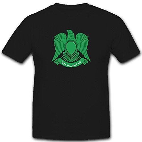 Escudo Libia Árabe nadadores–Camiseta # 1915 negro XXX-Large