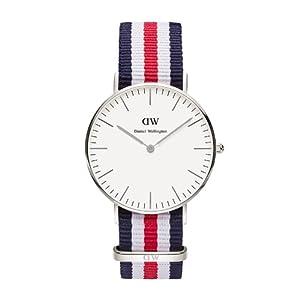 Reloj Daniel Wellington 0606DW de cuarzo para mujer con correa de nylon, color multicolor de Daniel Wellington Watches