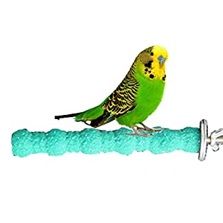 "Wood Perch Paw Grinding Toy for Bird Parrot Budgies Parakeet Cockatiels Conure Lovebird Cage Stand Toy (18cm/ 7"") 3"