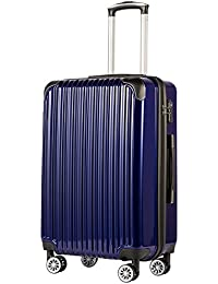 b4de9757c1 Coolife Luggage (28in Expandable) Suitcase PC+ABS Spinner 20in 24in 28in  Carry on