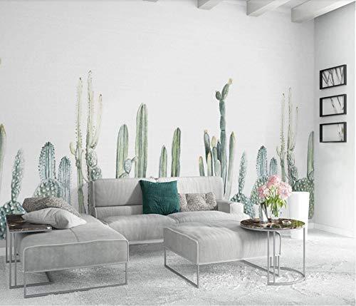 3D benutzerdefinierte Tapete Nordic Tapete einfache Kaktus TV Hintergrund Wand Startseite Wohnzimmer Kinderzimmer Dekoration 350x256cm