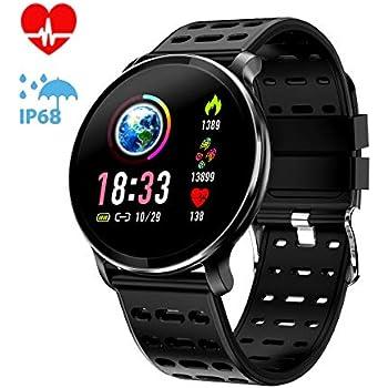 CanMixs CM10 Smart Watch, Reloj Inteligente a Prueba de Agua IP67 Pulsera Inteligente con Monitor de Ritmo cardíaco, Contador de calorías, Monitor de sueño, ...