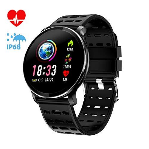 Imagen de canmixs pulsera de actividad smartwatch, cm10 pulsera inteligente impermeable ip68 reloj deportivo para deporte, podómetro, monitor de ritmo, calorías para android y ios teléfono móvil hombres mujeres alternativa