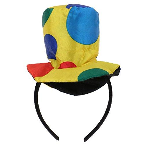 Baoblaze Vintage Polka Dot Clown Haarreif Hut Stirnband Haarband Bowknot auf Haarreifen für Damen Mädchen Koatüm Haarschmuck - # 1