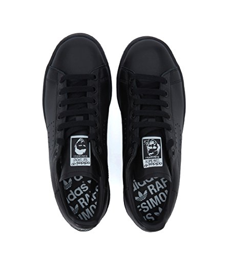 Sneaker Adidas by RAF Simons Stan Smith in Pelle Nera Nero