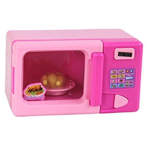 kingken Creative Kunststoff Simulation Mikrowelle Home Appliance Spielzeug für Kinder (Pink) - Kunststoff-appliance