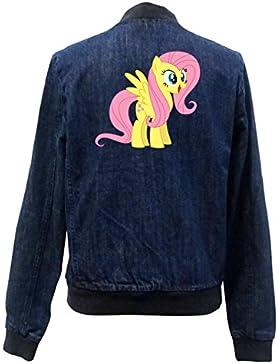 Fluttershy Pony Bomber Chaqueta Girls Jeans Certified Freak