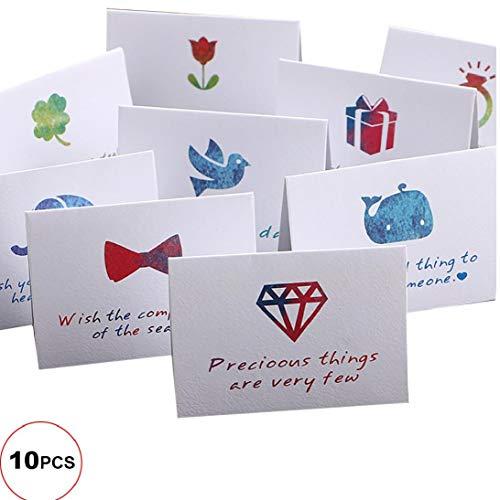 OMMO LEBEINDR 10pcs / Set DIY Kreative Allgemein Frische Segen Liebe Thanksgiving Weihnachten Danksagung Karten