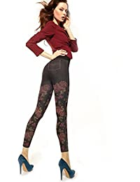 Gatta Colly ANN 20–trendy, opaque tights with A beautiful floral Pattern