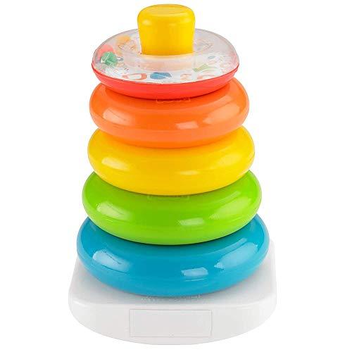 TrifyCore Brilliant Basics Rock-a-Stapel Regenbogen-Stacker Klassisches Spielzeug Glatte Ringe Developmental Spielzeug für Kinder 1Set - Spielzeug Kinder Stapeln