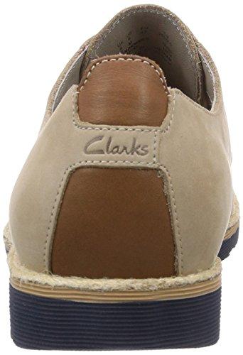Clarks  Gambeson Walk, Derbies à lacets homme Beige - Beige (Sand Nubuck)