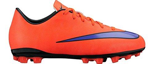 Nike Jr Mercurial Victory V AG Jungen Fußballschuhe Rot (Leuchtendes Karmesinrot/Persisches Violett 650)