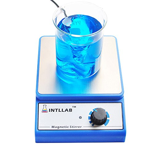 INTLLAB Magnetrührer Magnetic Stirrer inklusive Rührstäbchen Drehzahlbereich: 0-3000rpm, Rührmenge: 3000mL