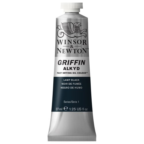 winsor-newton-griffin-37ml-alkyd-fast-drying-oil-colour-tube-lamp-black